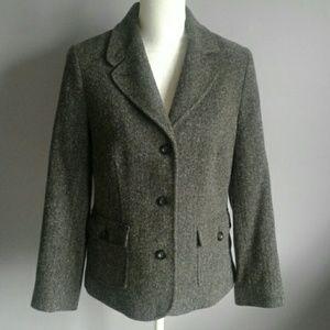 L.L. Bean Herringbone Tweed Blazer